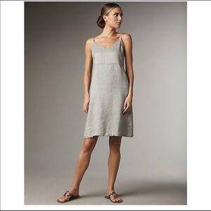 Eileen Fisher | Linen Silver Shimmer Cami Dress S